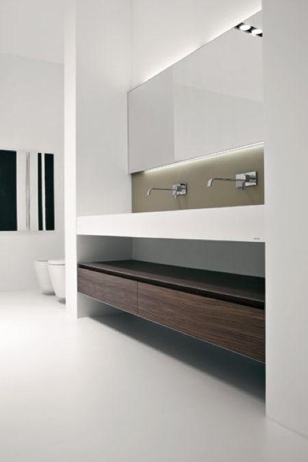 Antonio Lupi salle de bain corian http://www.m-habitat.fr/installations-sanitaires/meubles-de-salle-de-bain/les-meubles-avec-vasque-integree-771_A