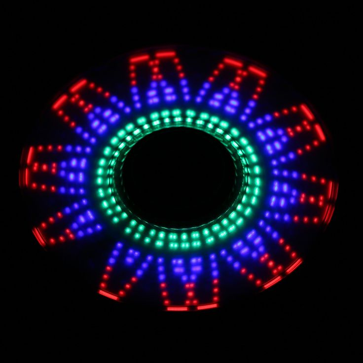 Only US$3.24, black LED Light Spinner with Switch Plastic EDC Hand Toy For Autism - Tomtop.com