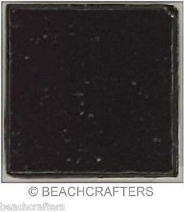 25 - 3/4 inch BLACK Venetian Vitreous Glass Mosaic Tiles