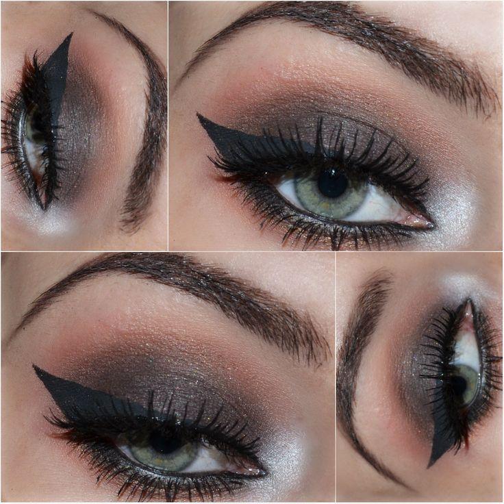 Brown smoky eyes  www.gosia-makeup.blogspot.com