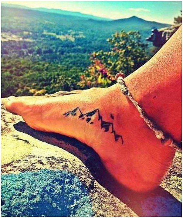 #TattooSymbolism #Tattoos Diese kleine Bergetätowierung an Ihrem Fuß könnte Ihre Bereitschaft signalisieren, eine felsige Reise zu unternehmen, um Ihre Ziele zu erreichen. …