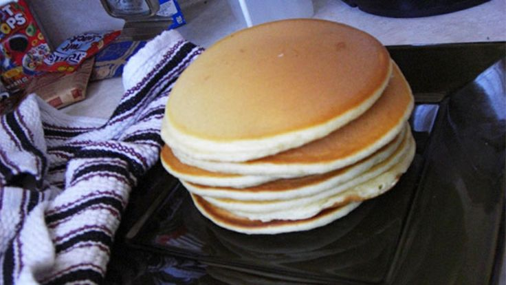 """Just remember """"One"""" for easy pancakes from scratch....4 ingredients: 1 cup of plain flour, 1 cup of milk, 1 egg and 1 tablespoon of sugar. For when I can't remember my favorite, more involved recipe!"""
