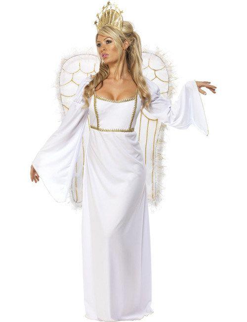 Engel Damenkostüm Weihnachten weiss-gold aus der Kategorie Karnevalskostüme / Weihnachtskostüme. Der Anblick dieses Engels macht auch aus dem schlimmsten Sünder sofort einen frommen Gläubigen!