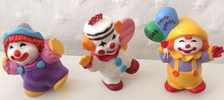 "1990 t0 1993-Hallmark Merry Miniatures ""Happy Birthday Clowns"