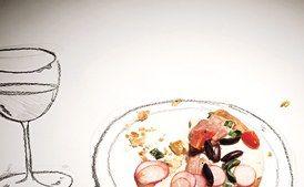 Tuna, Fresh Mozzarella, and Basil Pizza