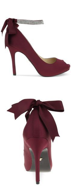garnet heel , bridesmaid shoes