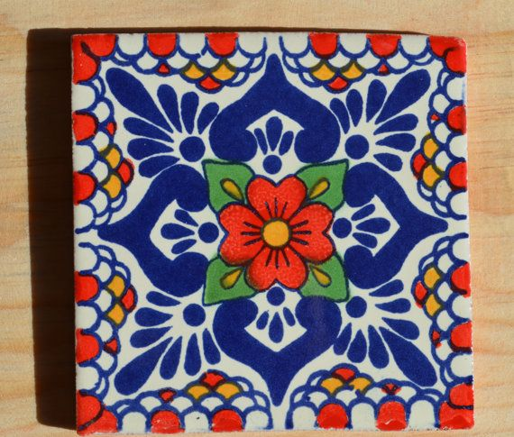 1 box of 90 Mexican clay tiles handmade hand by MexicanTiles, $100.00