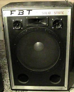 "CASSA FBT SOLID STATE '70 WOOFER 18"" BASSO, PA, CHITARRA (RCF LOMBARDI SEMPRINI) - #3721901 - su Mercatino Musicale in Amplificatori - Testata / Cassa per Chitarra"