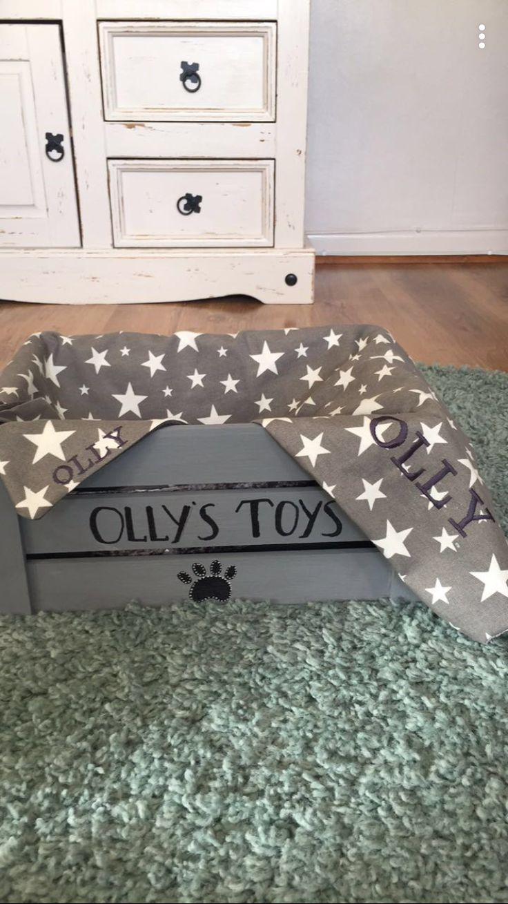 Toy box and personalised blanket 🐶