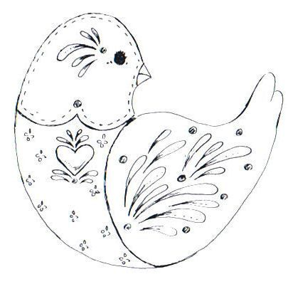Cottage Crafts: 8 Free Folk Art Bird Patterns - for Embroidery ...