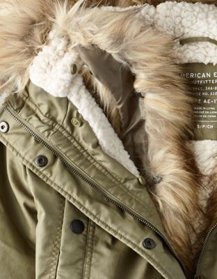 AE Faux-Fur Hooded Parka by  American Eagle Outfitters | A classic essential with an extra dose of cozy.A classic essential with an extra dose of cozy. Shop the AE Faux-Fur Hooded Parka and check out more at AE.com.