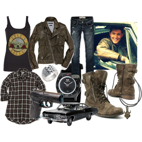 Girl!Dean Winchester outfit. Oh how I wish I was hardcore enough to rock this.