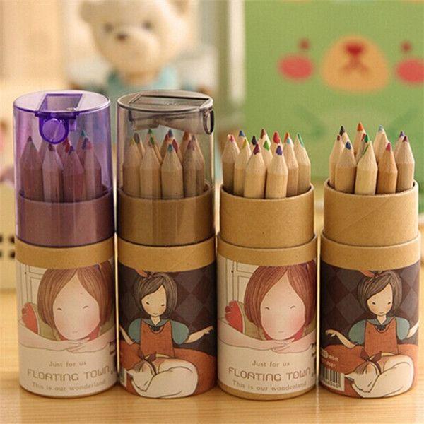 Barato Atacado menina pintura estacionária suprimentos 12 cores desenho escrever lápis de madeira, Compro Qualidade Lápis Comuns diretamente de fornecedores da China:               Material:                                     Plástico + madeira                      Cor da caixa: