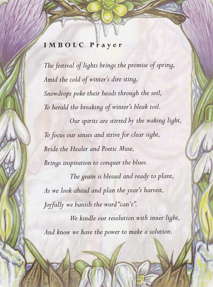 Imbolc:  #Imbolc Prayer.