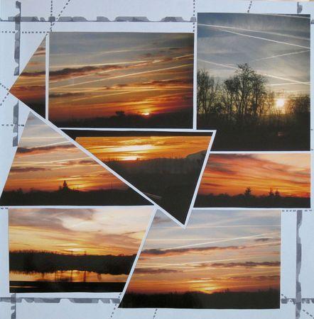 Au cours d'un voyage (aller/retour) en bus Bordeaux-Toulouse le soleil se lève puis se couche et les avions strient le ciel. http://scraporteuse.canalblog.com/