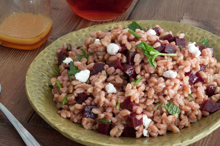 Farro, Beet and Herb Salad   Recipe   Beets, Salads and Mediterranean ...