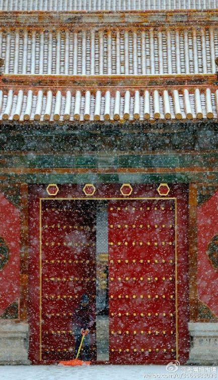 Beijing Forbidden City in the snow ....