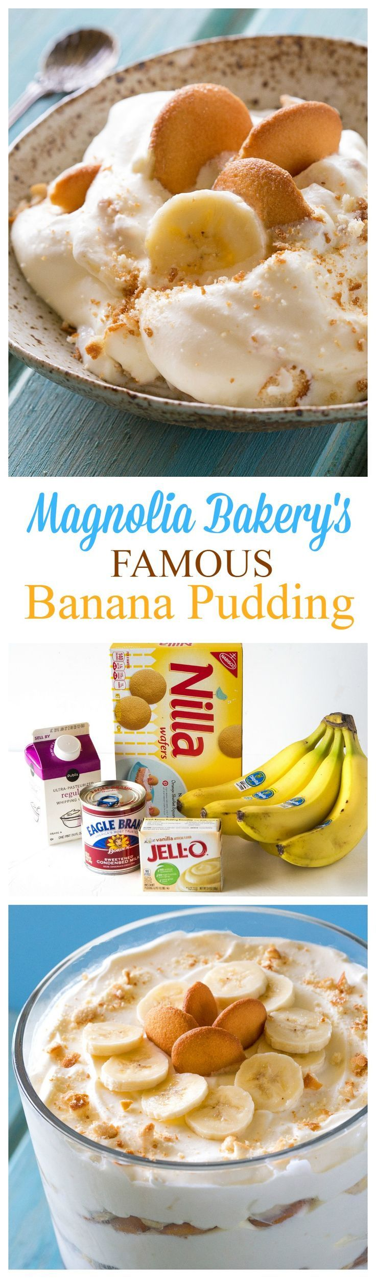 Magnolia Bakery's Famous Banana Pudding - THE recipe from their cookbook. It's heaven. the-girl-who-ate-...