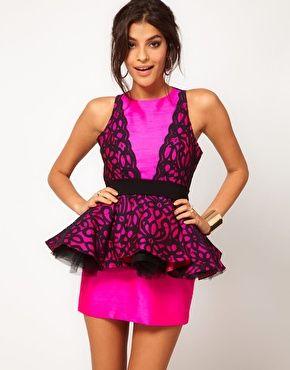 Miss Francesca Couture Lace Peplum Prom Dress  $474.93