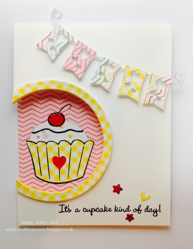 Created using stamps from MY FAVORITE THINGS - It's a cupcake kind of day. Banner die from Joanna Sheen, Signature dies.