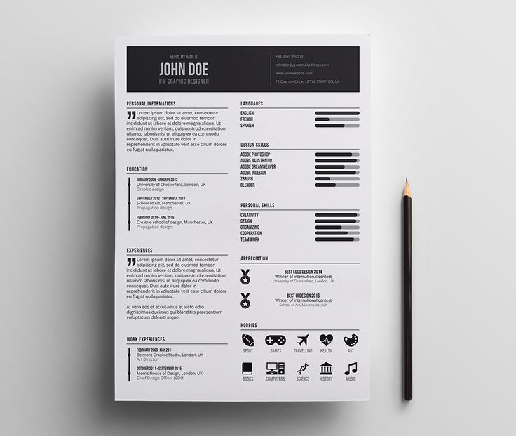 25+ parasta ideaa Pinterestissä Unique resume Luova cv - resume layouts