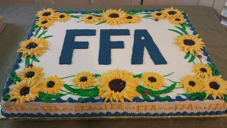 FFA Sunflower full sheet cake