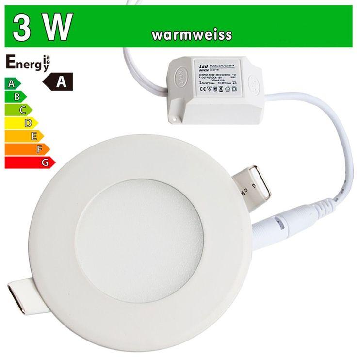LED Paneel spot inbouw 3w