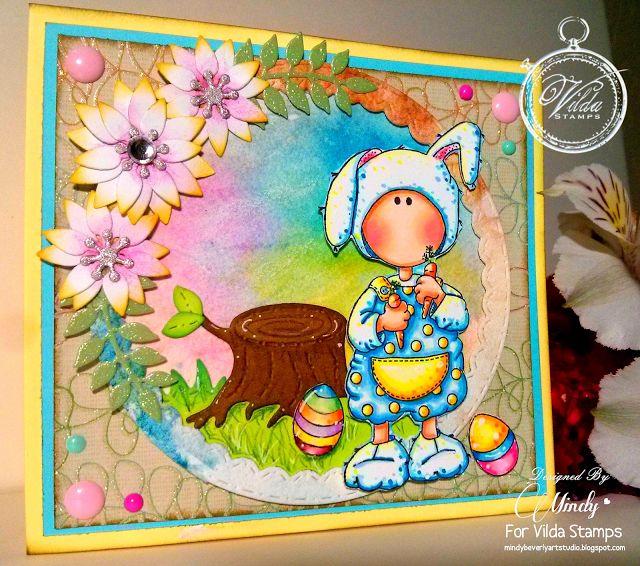 Mindy Beverly Art Studio: Vilda Easter Bunny Card