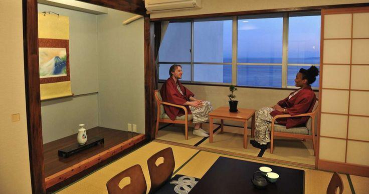Enjoy Onsen(Hot Spring), Ocean and Sea food in Atami! KHAOSAN ATAMI ONSEN RYOKAN & HOSTEL is a