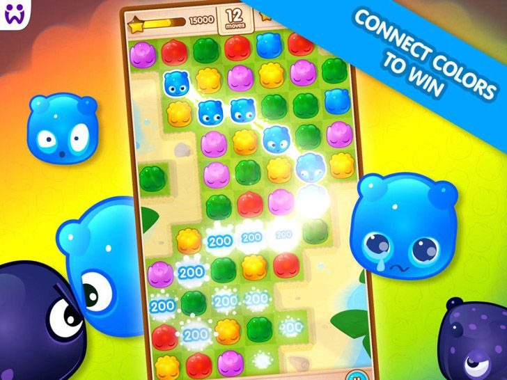 Jelly Splash App by Wooga. Puzzle game apps.