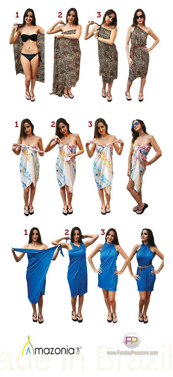 How to Wrap and Tie Beach Cover up #Skinapalooza