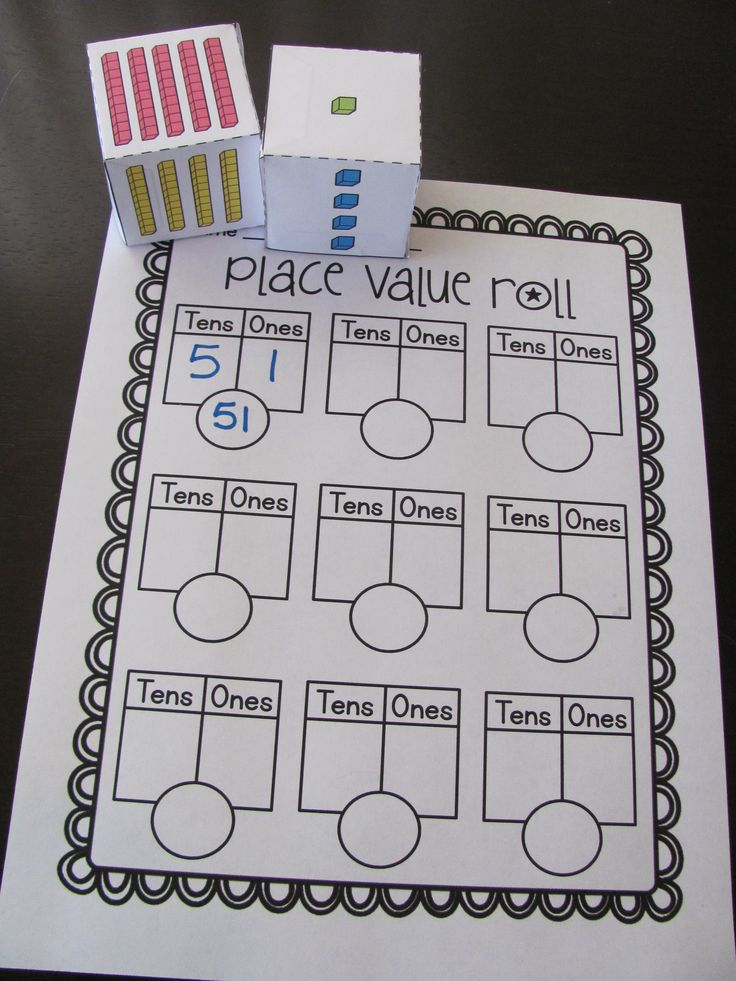 Place value dice center!! Click for dice template and recording sheet