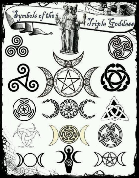 Symbols of the Triple Goddess   Wicca and Paganism   Pinterest