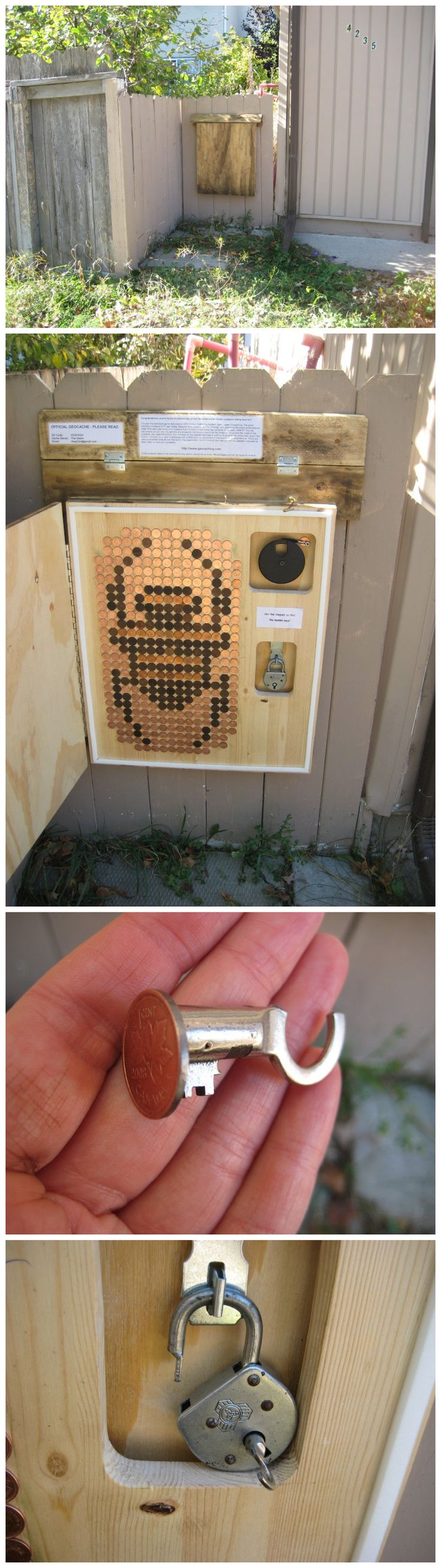 Create a geocache with spare change. – Deja Vu? (GC5F41G) – Geocache of the Week