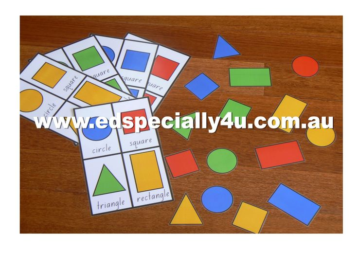 Primary colour and shape match.  Match the shapes with the correct shape and in the correct colour.  A fun hands on learning game to reinforce knowledge of colours and shapes.  Find our resources at www.edspecially4u.com.au