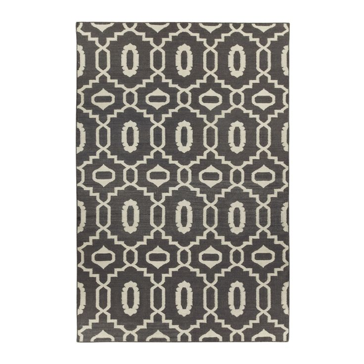 Genevieve Gorder Anchor Rectangle Smoke Flat Woven Rug (7' x 9') | Overstock.com Shopping - The Best Deals on 7x9 - 10x14 Rugs