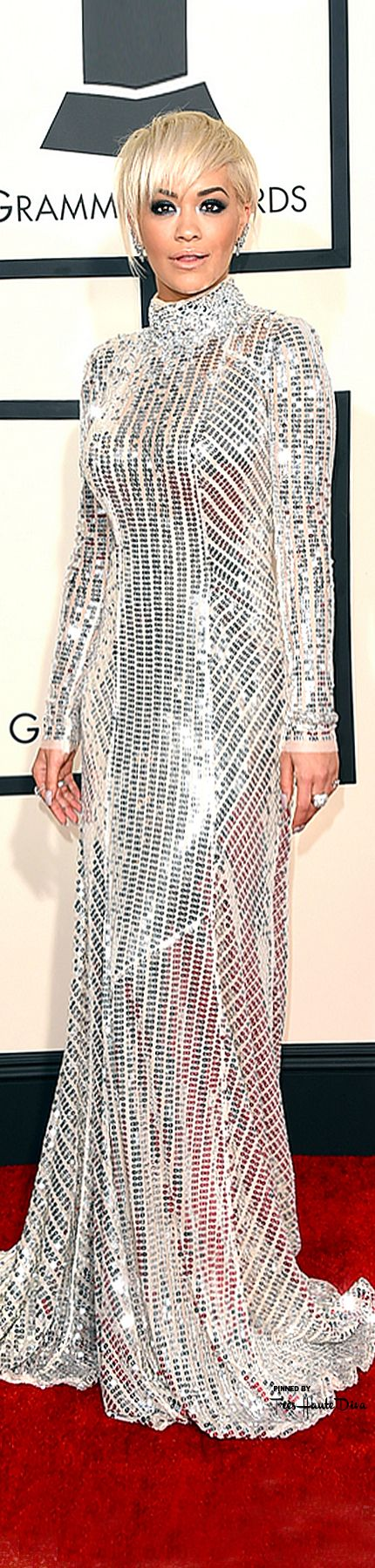 #Rita #Ora at the 57th Annual #Grammy Awards 2015 in Prada ♔THD♔