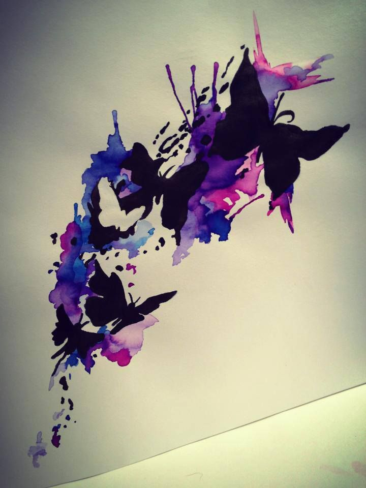 Watercolour butterfly tattoo cool tattoos pinterest for Cool watercolour