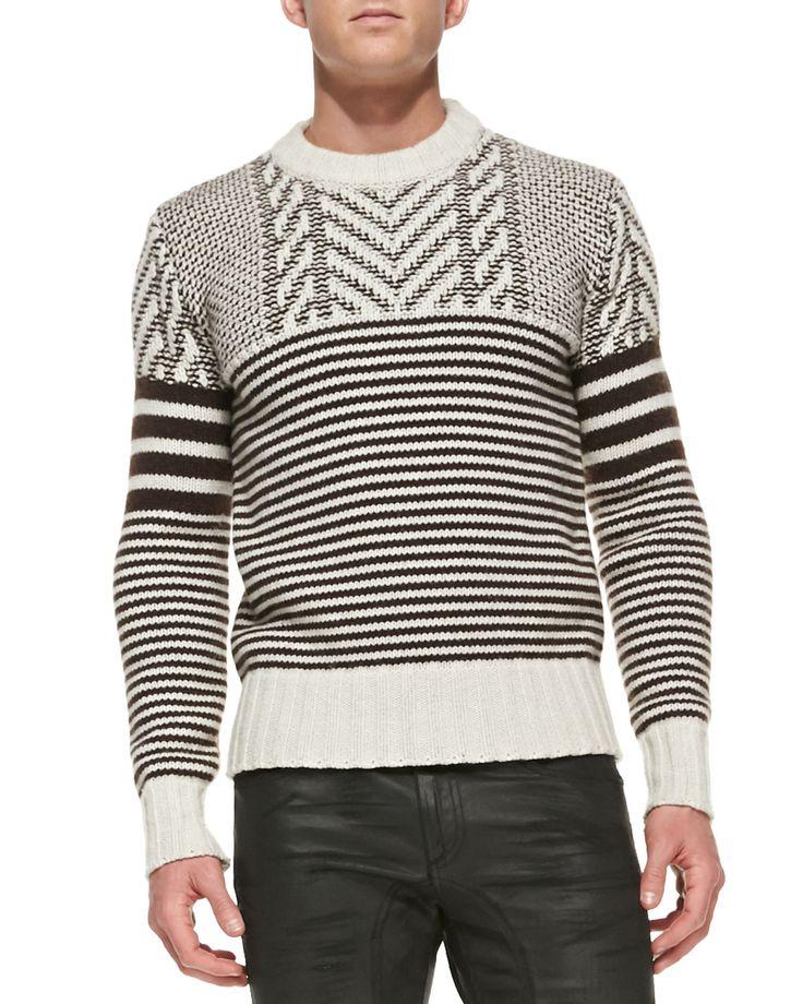 Belstaff Burstead Stripe Crewneck Sweater