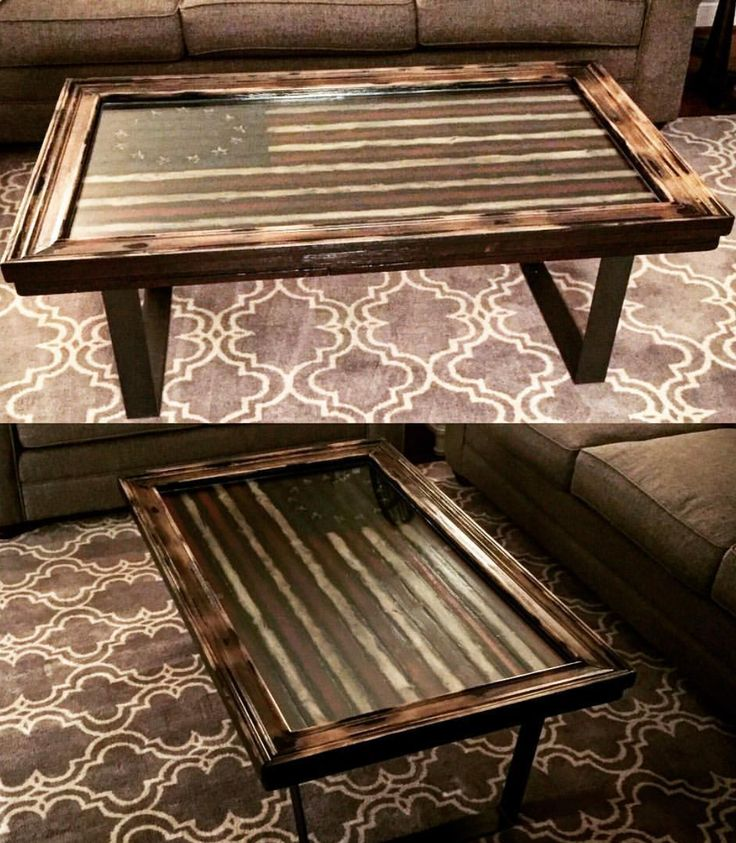 Betsy's Colonial Freedom American Flag Coffee Table