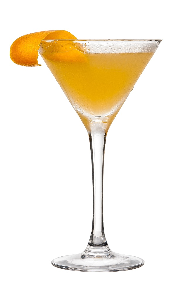 PARADISE : INGREDIENTS -   2 measures Gin  1 measure Apricot brandy  1 measure Freshly squeezed orange juice  1/4 measure Freshly squeezed lemon juice  Garnish    Orange zest twist  INSTRUCTIONS - 1 Serve drink with all ingredients shaken with ice. 2 Fine strain into a glass. HOW TO SERVE IT -   Serve in a Martini glass  Garnish with an orange zest twist