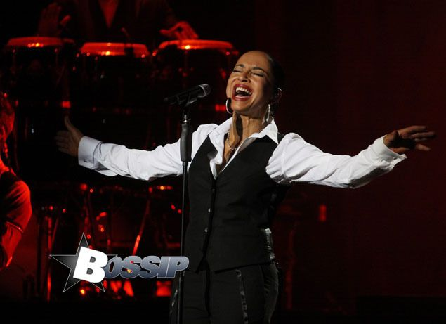 """Sade performs during her """"Soldier of Love"""" American portion of her tour at Nassau Coliseum in Long Island,"""