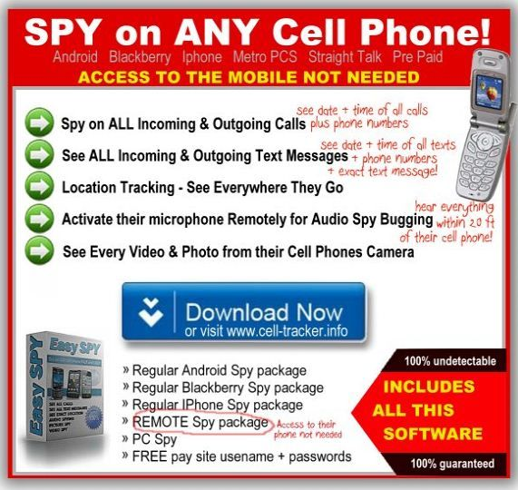 http://www.remotephonespy.com    Remote Cell Phone Spying    How to spy on a cell phone using remote cell phone spying software. No need to access their cell phone to install cell phone spy software when using a remote phone spy.    remote cell phone spy, remote mobile phone spy, remote phone spy