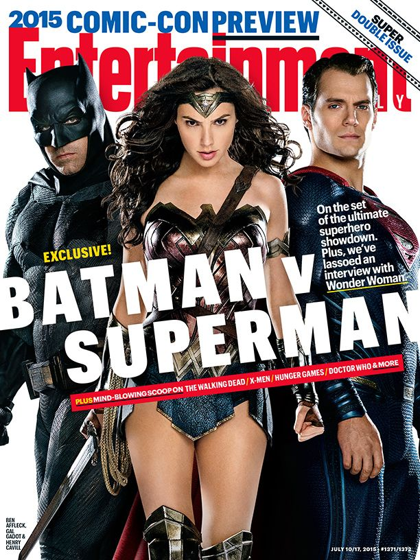 The new first look cover for Batman v Superman is here, Nový první pohled na cover pro Batman v Superman je tady ! Entertainment Weekly