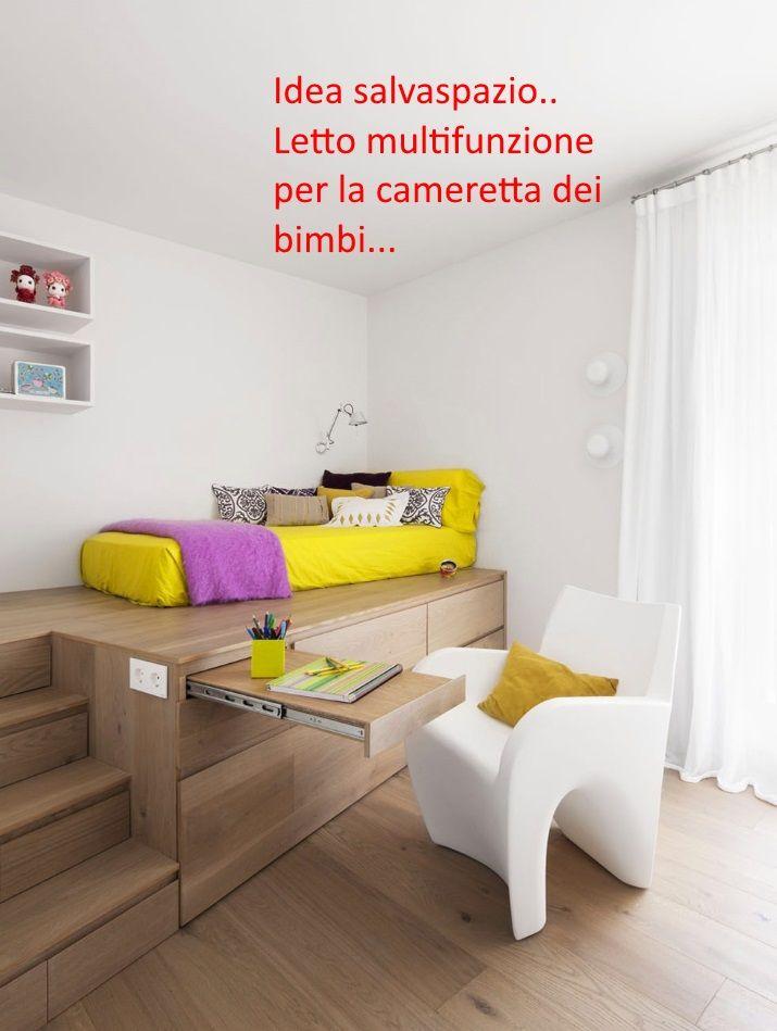 Idea salvaspazio per la cameretta dei bimbi letto ...