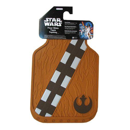 star wars chewbacca rubber floor mat 2pack