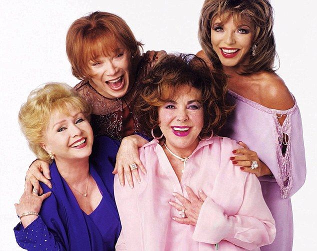 From left: Debbie Reynolds, Shirley MacLaine, Elizabeth Taylor and Joan Collins