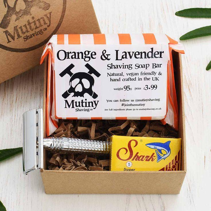 Mutiny Mini Safety Razor Kit Orange & Lavender Safety