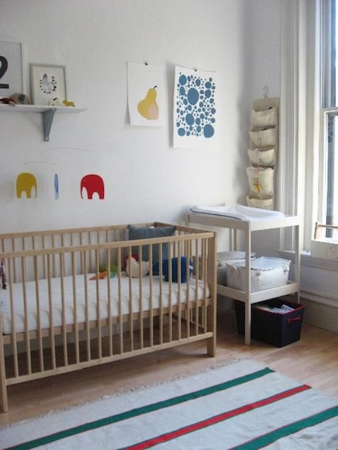 The Gulliver Crib in birch (also available in white) is $139 at Ikea.