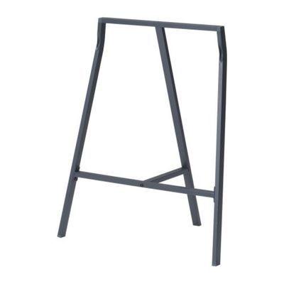 IKEA 1 Stahl Tischbock Bock Füße für Tisch grau Höhe 70 cm bis 50 Kg belastbar | eBay
